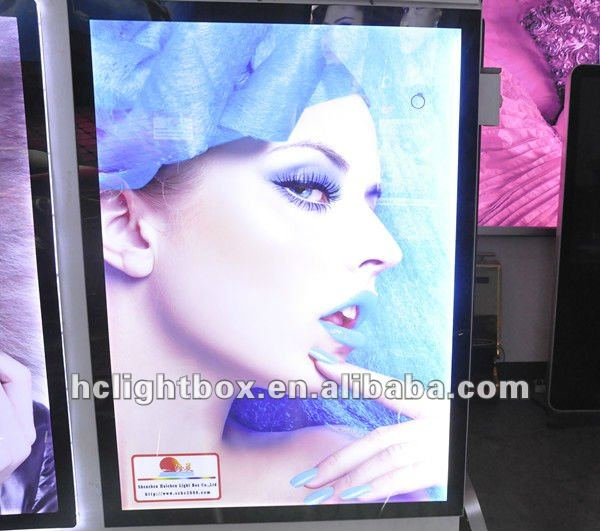 super slim LED magnetic frame advertising display light box