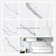 Competitive Price Calacatta White Quartz Stone Slab Faux Stone Table Top