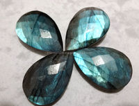 Labradorite Pear 20x30mm Facet Briolettes Semi Precious Beads