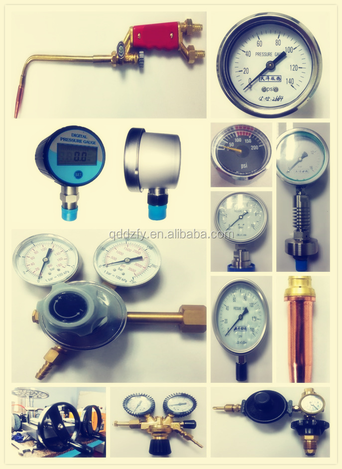 Electric contact bottom connection pressure gauge