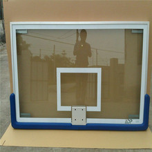 Removable tempered glass backboard basketball backboard for school using