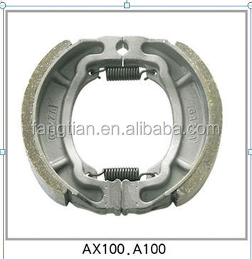 High Quality Non-asbestos Motorcycle AX100 Brake Shoes For Suzuki