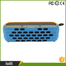 Custom logo portable wireless solar powered bluetooth speaker