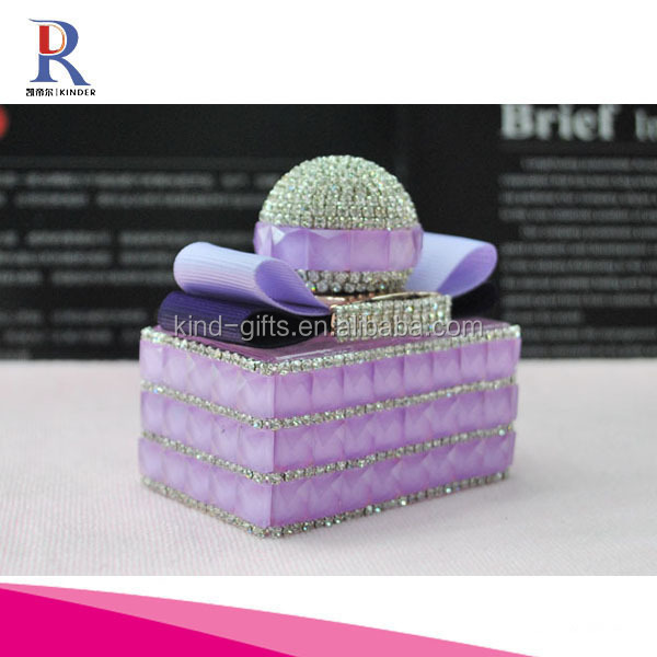 Car Empty crystal perfume bottles with rhinestone
