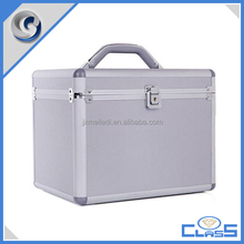 MLD-CC674 Newest Silver Multipurpose Aluminum Makeup Jewelry Storage Box With Door Interior