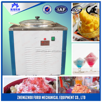 commercial double flat pans fried ice cream machine for fruit ,yogurt/ice cream vending machine