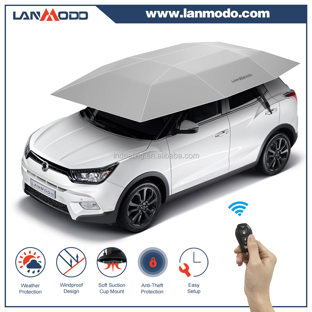 Lanmodo one click folding rooftop tent camping car tent