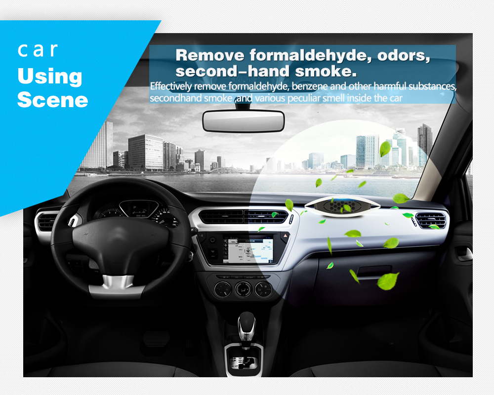 Latest technology products mini ionizer car air purifiers