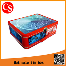 rectangular tin box with handle for packaging scissor