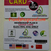 Low price stock wholesale pvc negative ion energy card exports to Malaysia