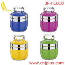 JP-FCB10 Hot Selling Rectangle Shaped Stainless Steel Food Container With Plastic Lid