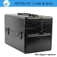 4 trays Hot sale travel makeup bag vanity cosmetic case