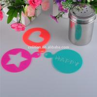 Best after-sale service New style plastic cappuccino coffee stencils for kids