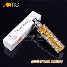 Jomo manufacturer original 2014 sex e cigarette battery 650mah crystal Ego Diamond Battery