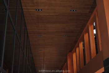 Carbonized Horizontal 2 Layers Matt Finish Bamboo Wall Panel and bamboo Ceiling With Durable Quality