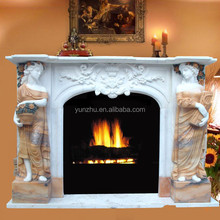 Indoor Used Stone Fireplace Mantel Home Decoration Fireplace Mantel Cheap Marble Fireplace Mantel