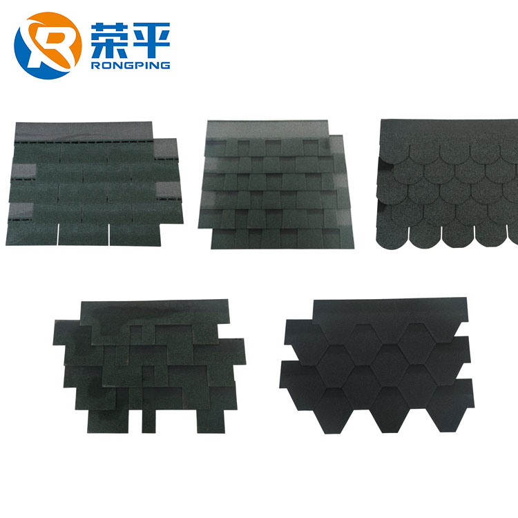 Cheap decorate waterproof natural slate grey roofing material asphalt shingles