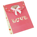 Die Cut Handle Customized Paper Wedding Return Gift Bag Shopping Bag With Flap and Bowknot