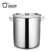 Big volume restaurant cooking soup stainless steel stock pot with lid
