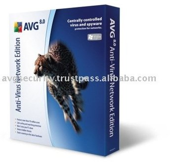 Avg Anti-Virus Network Edition software 60 Computers 2 Years