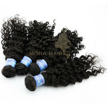 Wholesale100 human hair extensions curly brazilian hair brazilian curly .tissage indien serum black hair 12--30inch