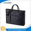 Unique portbale and shoulder black 15.6 inch fancy laptop bag