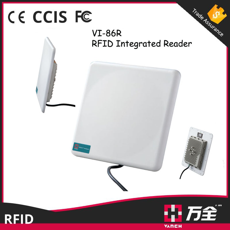 6-10 meters uhf rfid reader epc Wiegand / integrated 9dbi circular polarized passive uhf antenna reader