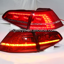 2013 to 2015 year tail lights For VOLKSWAGEN GOLF 7 Rear Light LED Tail Lamp for golf 7 red color TC