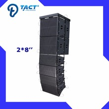 Dual 8 inch line array speakers pa system active for indoor occasions