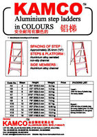 Alum. Step Ladders in Color