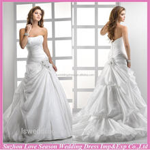WD1238 2015 wedding dress in turkey with great price bubble hemline taffeta lace off the shoulder white wedding dress