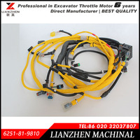 Excavator PC400-7EO,PC400-8 engine wiring harness for Komatsu 6251-81-9810