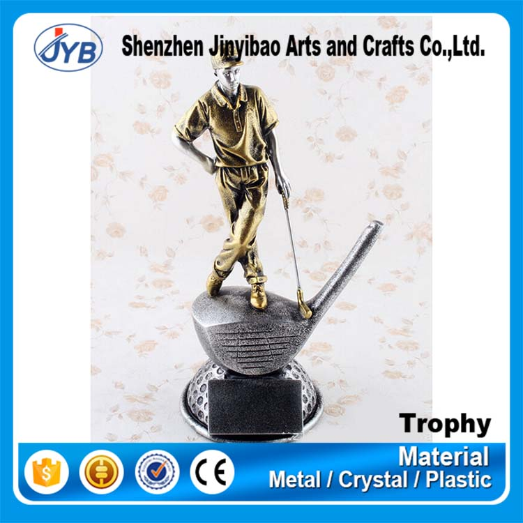 Design you own trophy and cheap wholesale various golf player figures and trophies