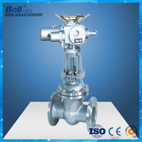 Electric motor operated non rising stem gate valve dn100