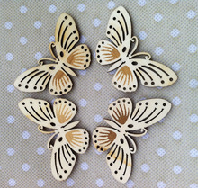Butterfly Unfinished Wood Shapes Craft Supply Laser Cut Outs Kids DIY Painting
