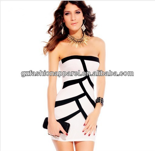2014 Hot sale fashion women boob tube top bodycon dress