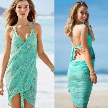 WINUP Hot Sale Sex Girls Beach Dress Hand Made Crochet Dress