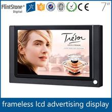 "Flintstone 7"" advert screen for pos advertising 7 inch car tv monitor 7"" lcd led advertising signage"