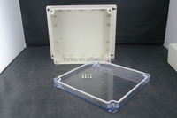 nema ip65 transparent polycarbonate plastic wall mounted battery box enclosure case