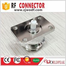 N female flange 4 hole panel mount connector for RG405 cable