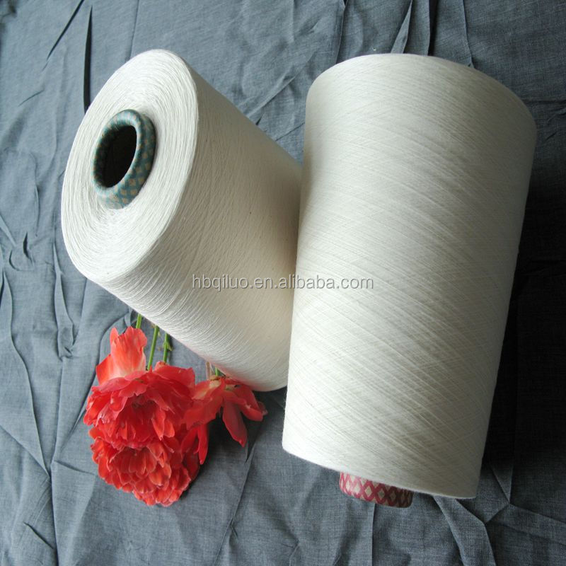 Manufacturer direct low price knitting open end 100 pima cotton yarn price for towel