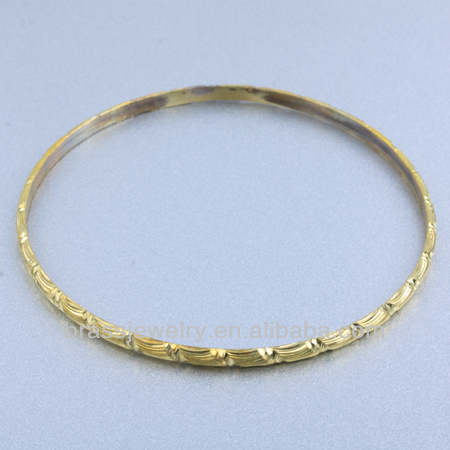 Simple Design Round Shape Brass Connector Carved Metal Rings for Jewelry Making