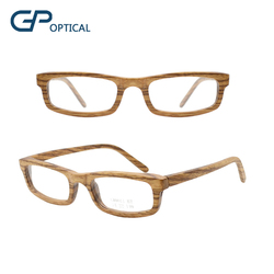 GW0011 BM 2018 new fashion square bamboo glasses wood optical eyeglasses frame