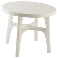 Stackable custom wholesale round folding plastic table with removable legs