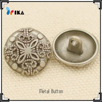 zinc alloy metal shank buttons for fashionable clothes