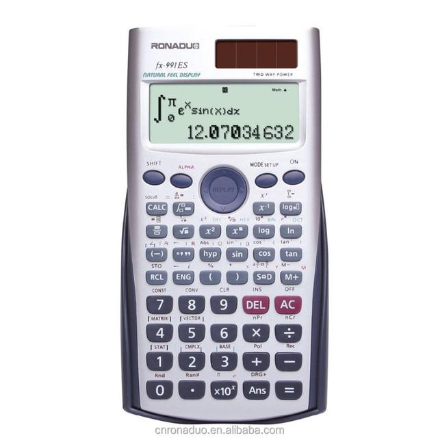 FX-991ES 10+2 scientific large solar power calculator popular free online scientific graphing calculator