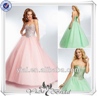 QQ512 Ball gown tulle floor length new arrivals 2014 long evening dresses