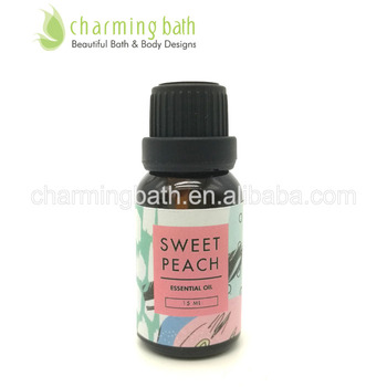 Top selling sweet peach Aromatheropy 15ml natural essential oil 100% pure & aromatheropic skin care