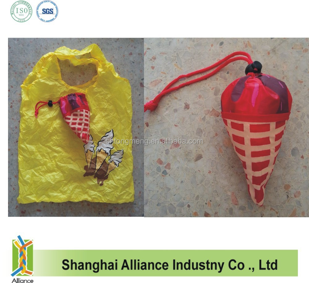Promotion custom size polyester foldable shopping bag (CF-216)