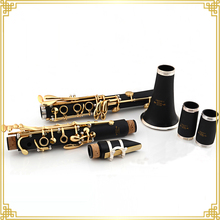 Eb Tone Gold Keys Clarinet made from Ebony